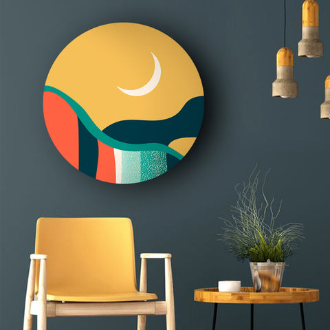 Under the Crescent Moon Canvas