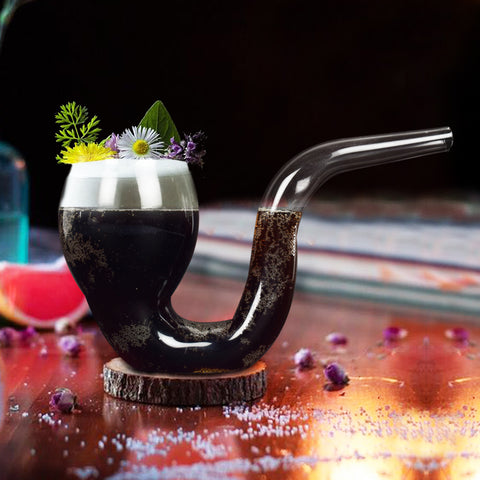 Smoke Pipe Cocktail Tumbler