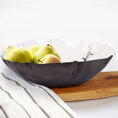 White Forest Serving Bowl