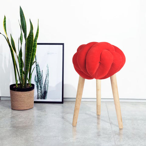 Pop Art Knot Stool - Red - The Artment