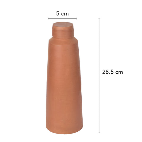 Rivaayat Terracotta Contemporary Water Bottle  - The Artment