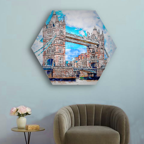 Painted Monuments Hexagonal Canvas