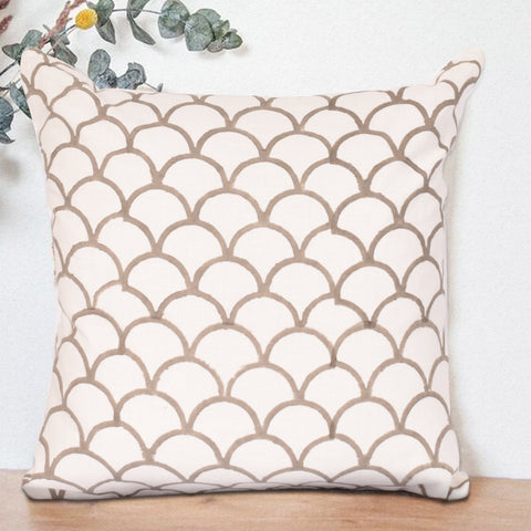 Bohemian Sepia Cotton Cushion Cover