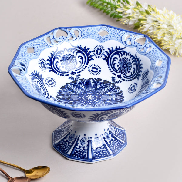 Vintage blue and white Fruit Bowl