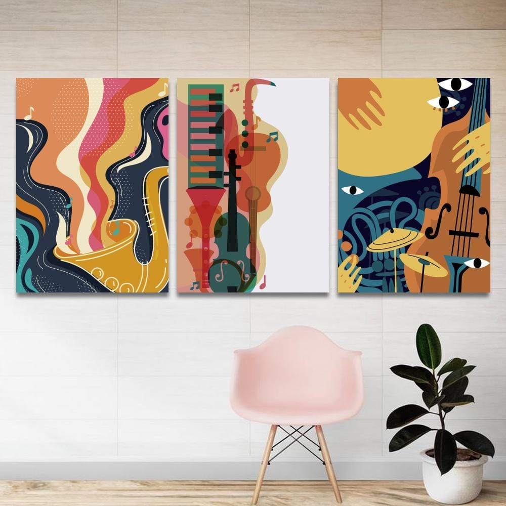 Cheerfully Musical World Canvas - The Artment