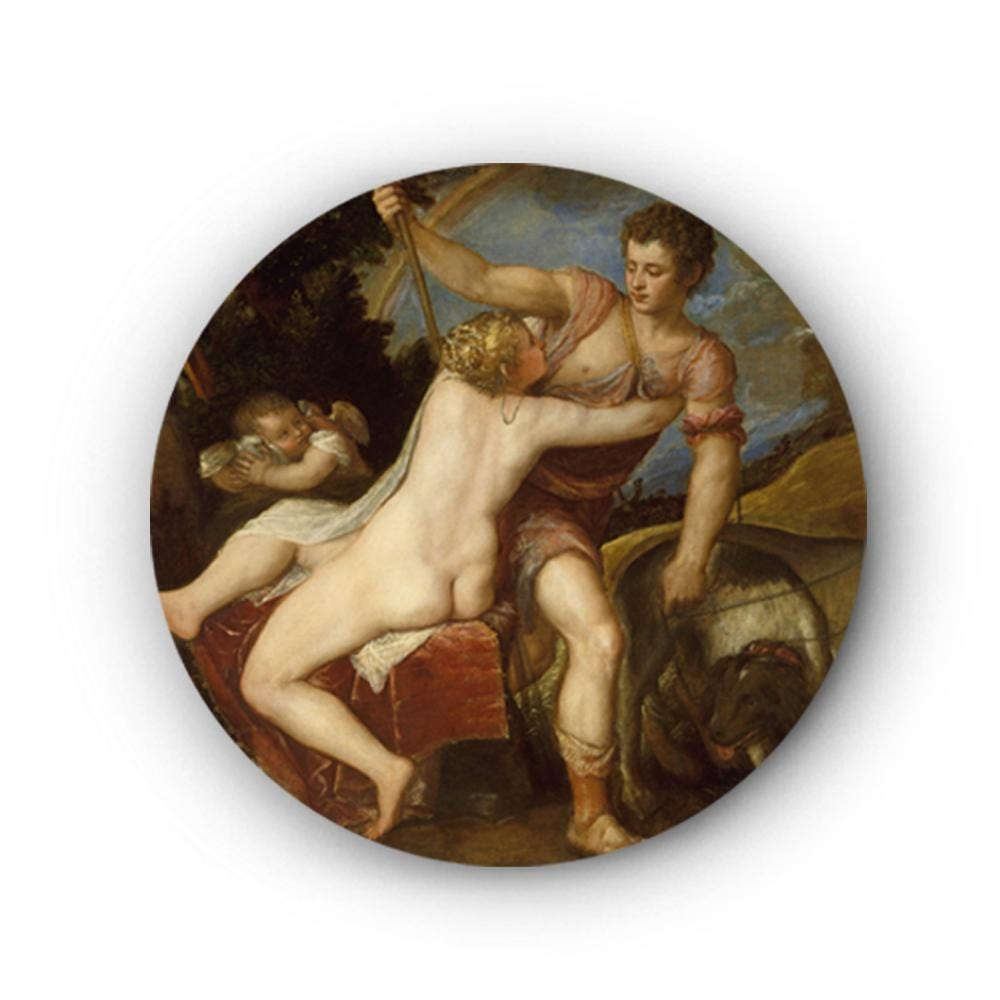 Venus and Adonis Canvas - The Artment