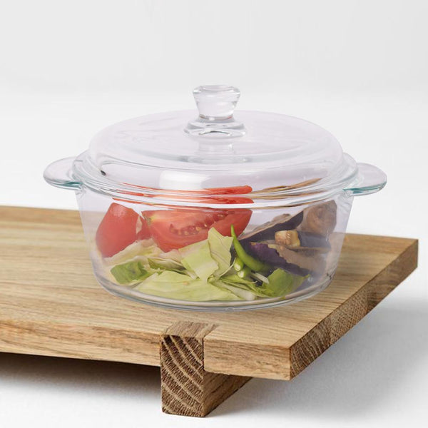 Minimalist Clear Glass Casserole - The artment
