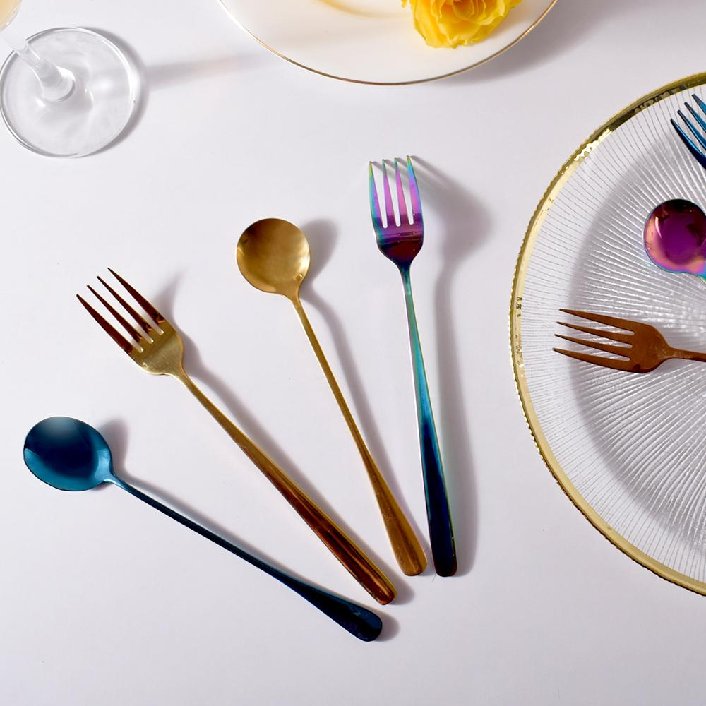 Glimmer Galaxy Cutlery Set ( 4 spoons and 4 forks)