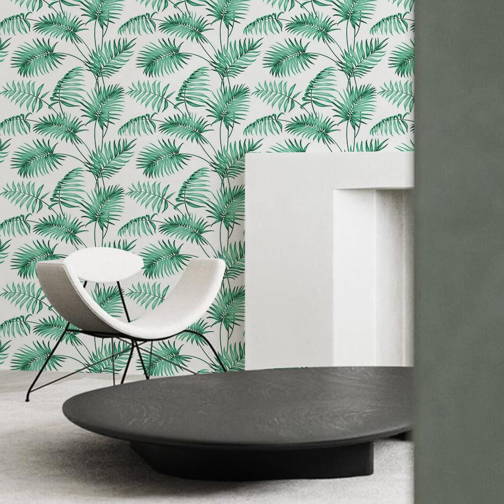 Leafy Loop Printed Textured Mural Wallpaper - The Artment