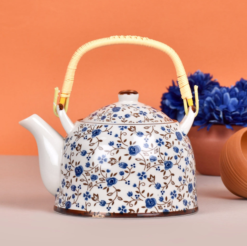 Blue Flora Ceramic Kettle - The artment