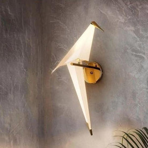 Perch Wall Lamp with Bird Light