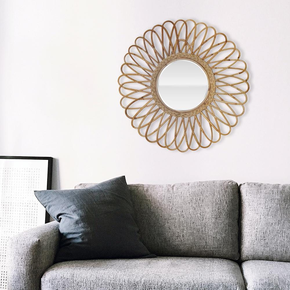 Bohemian Chic Gypsy Flower Cane Mirror - The artment