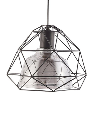 Caged Hanging Lamp