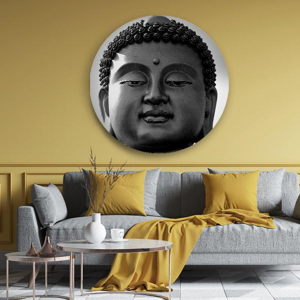 Tranquil Eyes of Buddha Canvas - The Artment