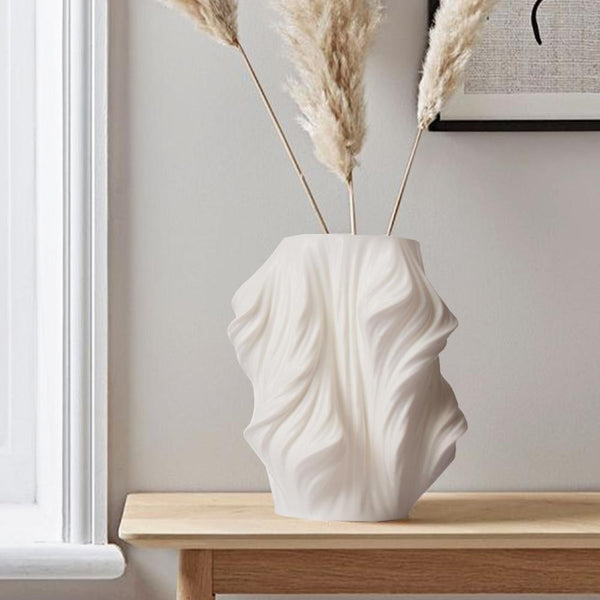 Fluid Grace Glide Vase-White - The Artment