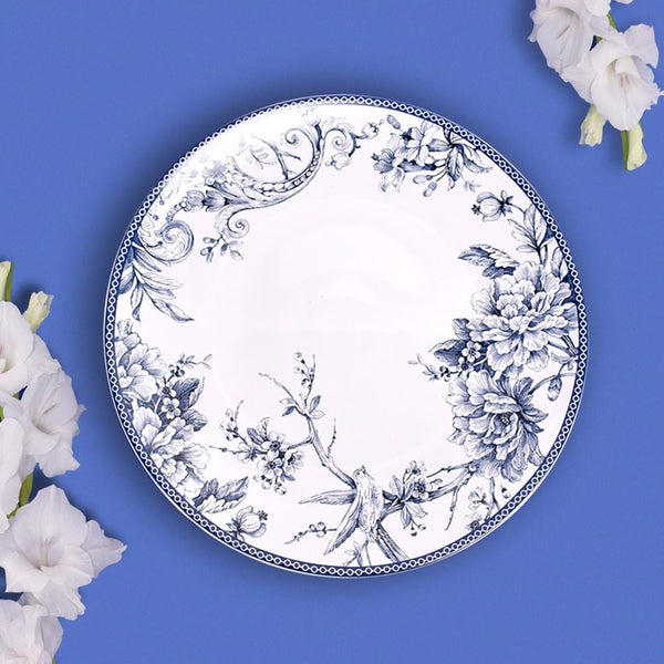 Vintage Blue and White Kraak Dinner Plate