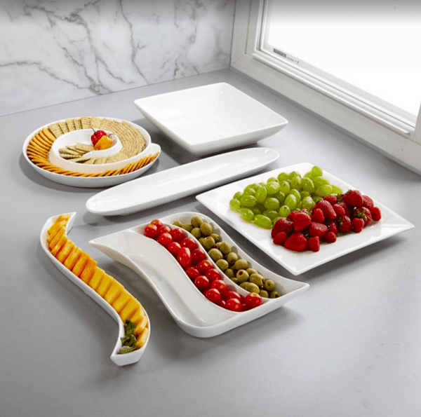 Minimal White entertaining serveware set