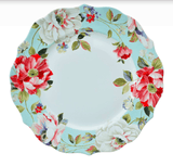 Victorian teal floral plate (Sold individually)