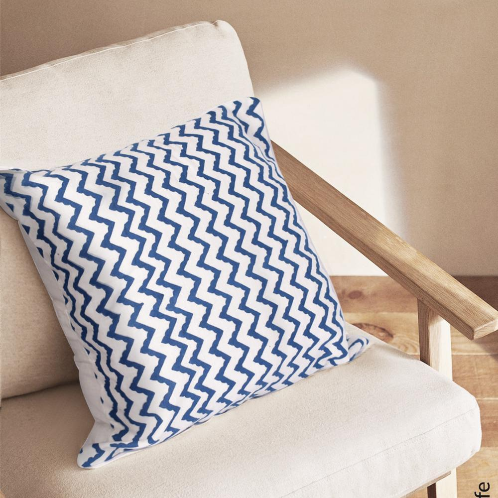 Bohemian Zig Zag Cotton Cushion Set - The artment