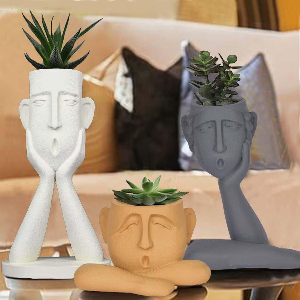 Surprised Faces Planter Set - The Artment