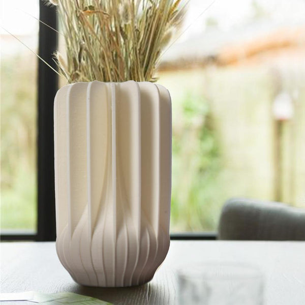 Fluid Grace Stem Vase - White - The Artment
