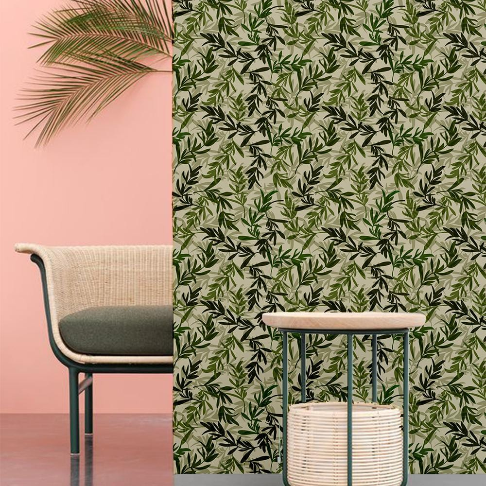 Leafy Life Printed Textured Self Adhesive Mural Wallpaper - The Artment