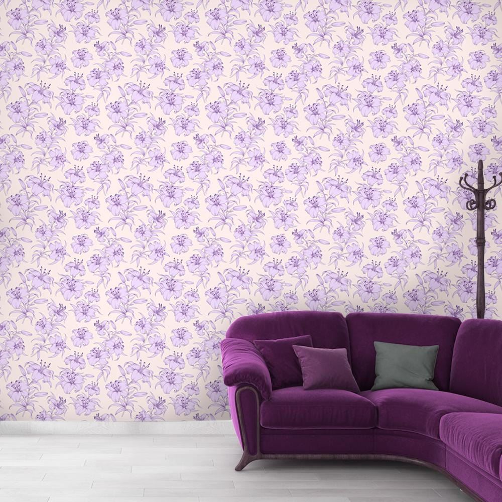 Periwinkle Touch Printed Textured Mural Wallpaper - The Artment