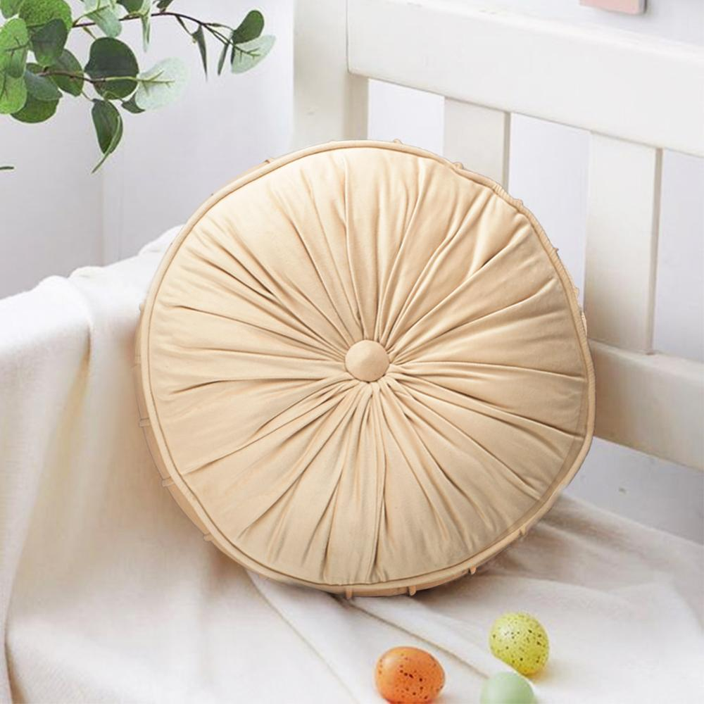 Very Merry Round Cushion- Beige - The Artment