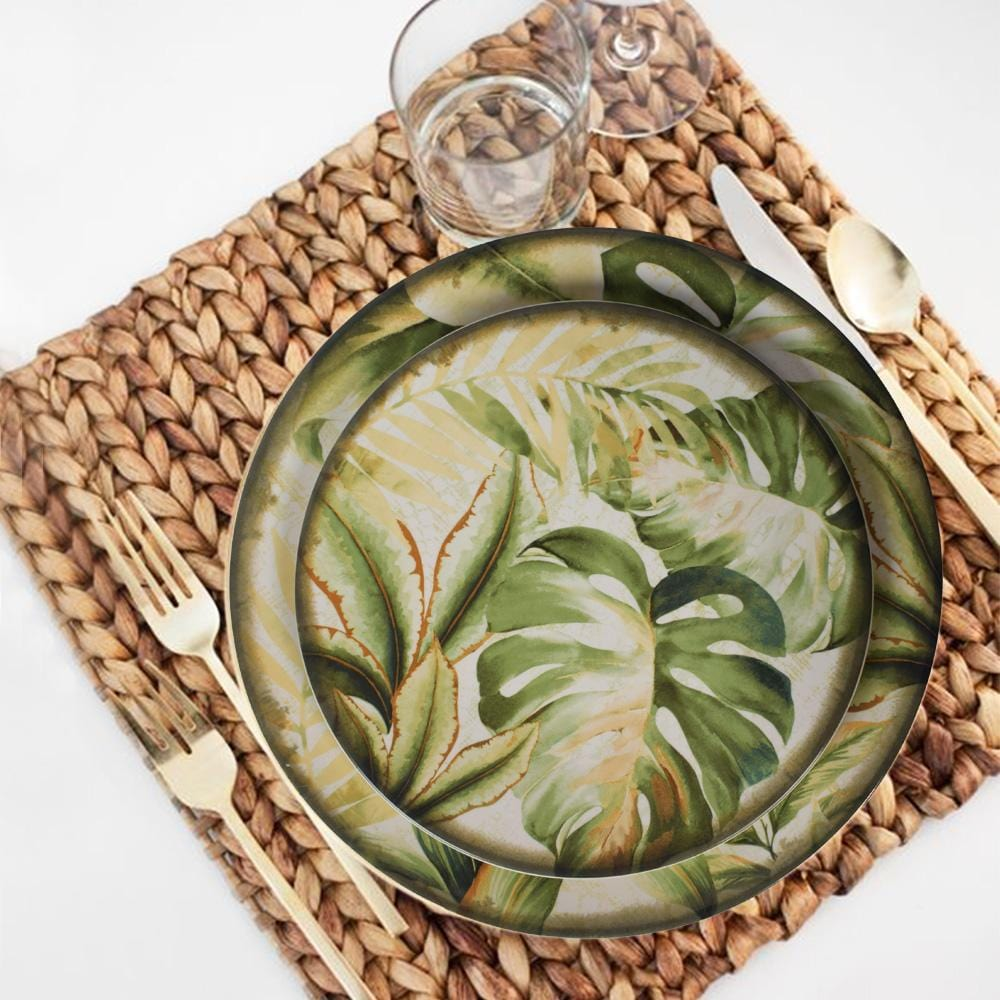 Tropical Trip Plate Set (Dinner and Quarter Plate) - The Artment