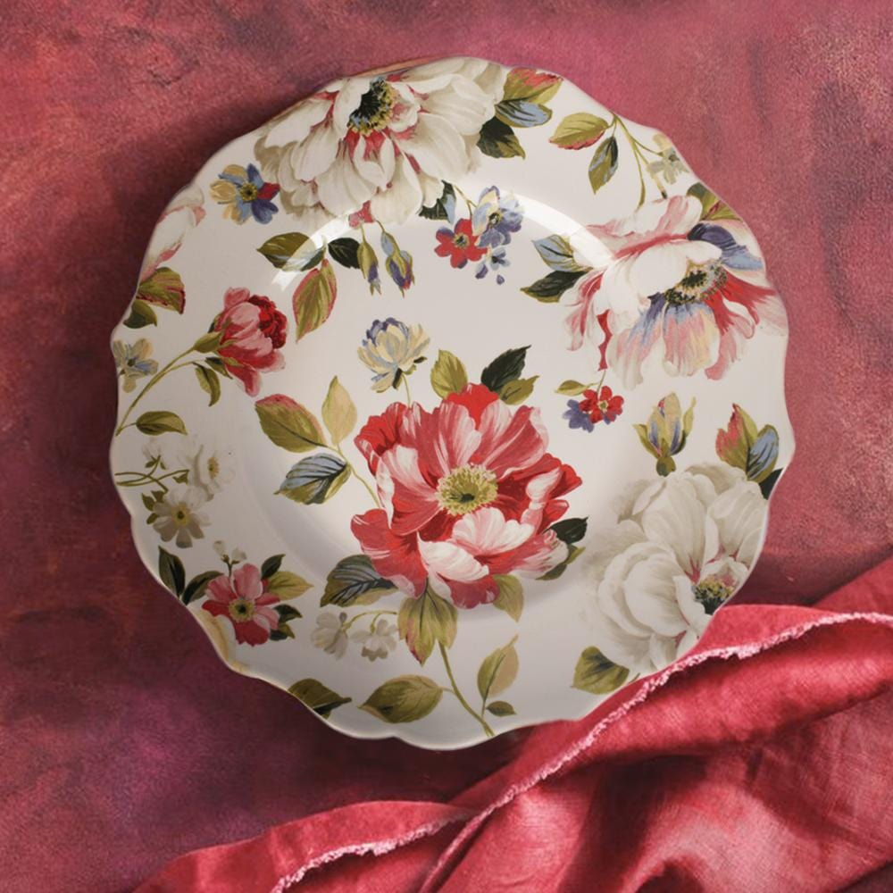 Victorian White Floral Dessert Plate - The Artment