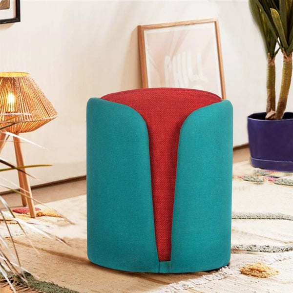 Modern Art Wrapped Pouffe - The Artment