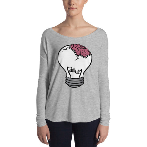 Brain Bulb Ladies' Long Sleeve Tee