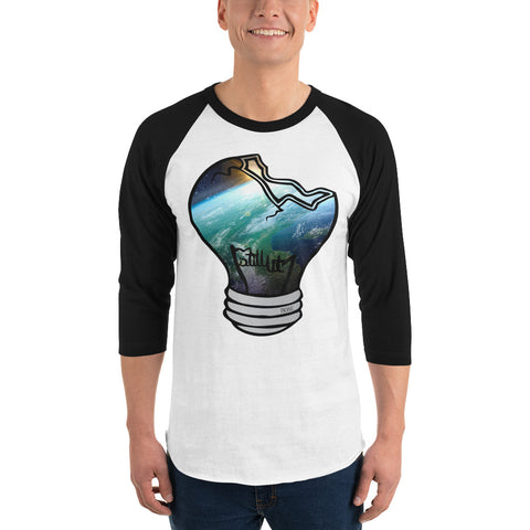 Space Bulb 3/4 sleeve raglan shirt