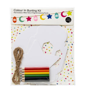 Colour In Bunting Set with Colours