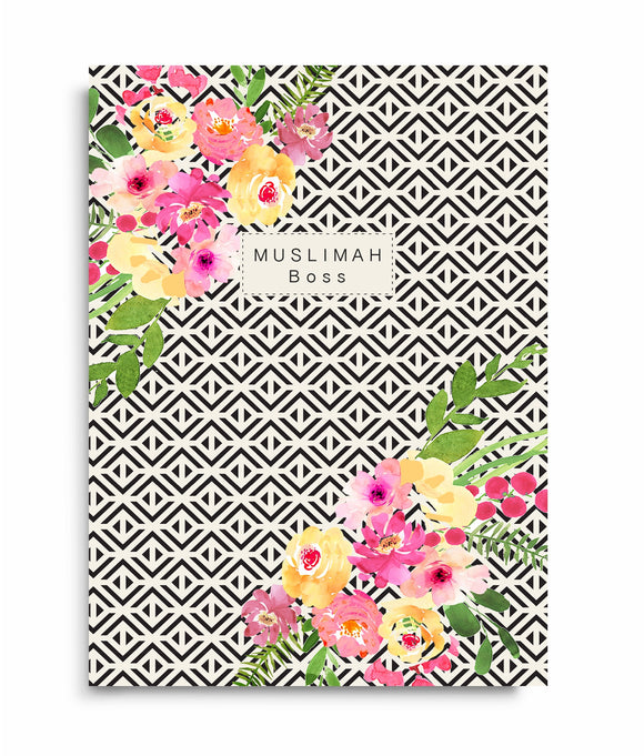 Muslimah Boss Floral Notebook