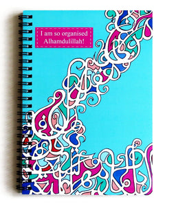 I am so Organised, Alhamdulillah Notebook - Silver Lining UK