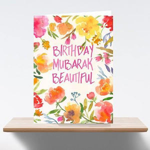 Birthday Mubarak Beautiful Greeting Card