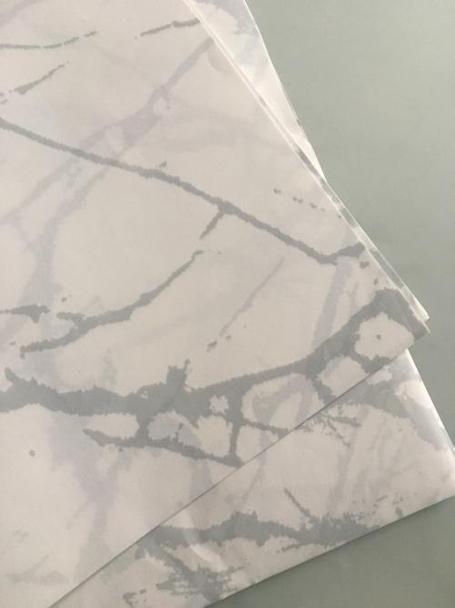 Carrera Marble Gift Wrap (2 Sheets) - Silver Lining UK