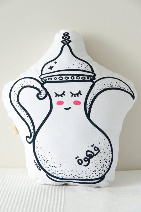 Dallah Arabic Coffee Pot Cushion