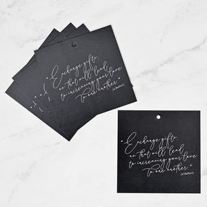 Calligraphy Gift Tags - Silver Lining UK