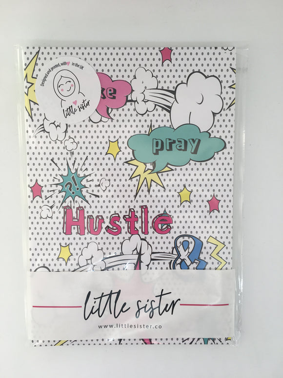 Wake, Pray Hustle & Repeat - Pop Art Notebook - Set of 3