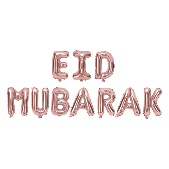 Eid Mubarak Rose Gold Foil Balloon Kit