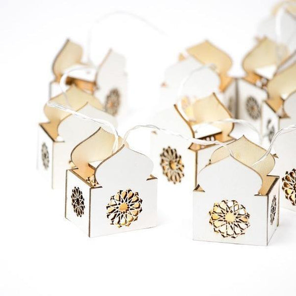 Masjid String Lights - White - Silver Lining UK