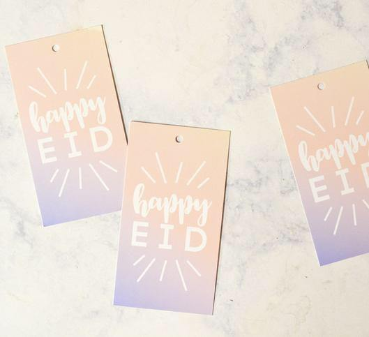 Happy Eid Ombré Gift Tags - Silver Lining UK