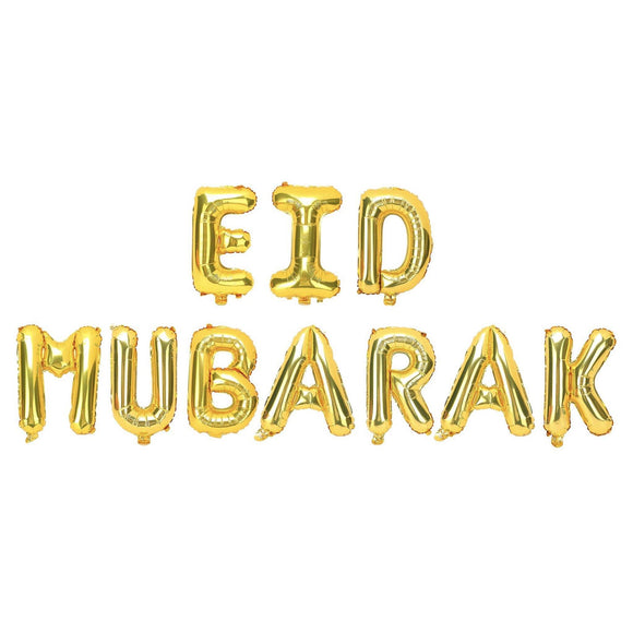 Eid Mubarak Gold Foil Balloon Kit