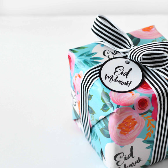 Happy Eid Floral Wrapping Paper