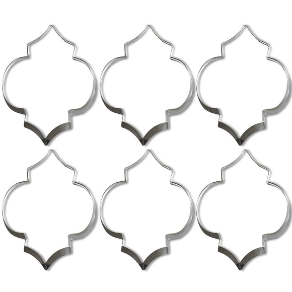 Fez Lantern Shaped Cookie Cutters /6pk - Silver Lining UK