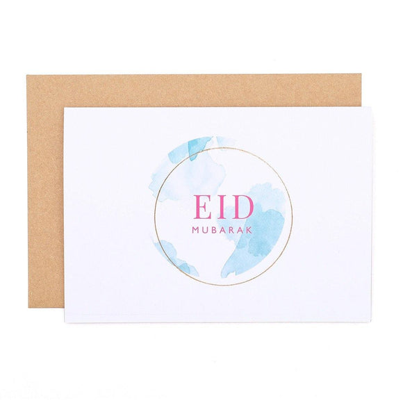 Pastel Eid Mubarak Greeting Card