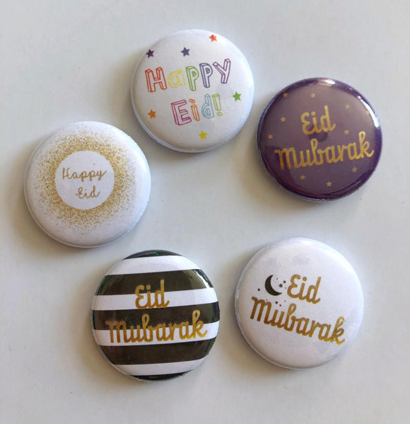 Eid Collection Pin Badges - Silver Lining UK