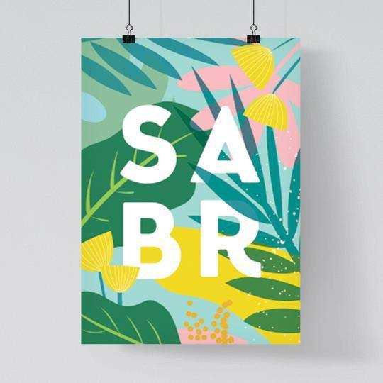 Tropical Sabr Islamic Art Print